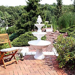 """Sunnydaze 59"""" Outdoor Welcome 3-Tier Garden Fountain, , rollover"""