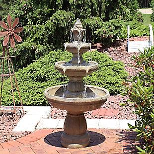 """Sunnydaze 48"""" Outdoor 3-Tier Water Fountain, , rollover"""