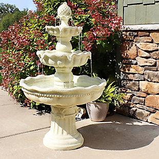 Sunnydaze Outdoor 3-Tier Pineapple Fountain Lightweight, , rollover