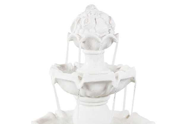 """Sunnydaze 52"""" Outdoor 4-Tier White Water Fountain, , large"""