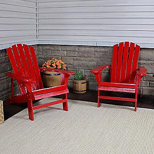 Sunnydaze Outdoor Coastal Bliss Adirondack Chair (Set of 2), , rollover