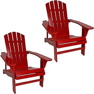 Sunnydaze Outdoor Coastal Bliss Adirondack Chair (Set of 2), , large