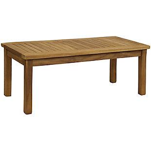 "Sunnydaze 45"" Outdoor Teak Wooden Patio Coffee Table, , large"