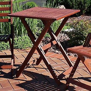 Sunnydaze Outdoor Meranti Wood Folding Square Bistro Table, , rollover
