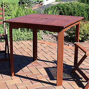 Sunnydaze Outdoor Meranti Wood Square Table, , rollover