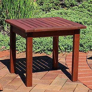 Sunnydaze Outdoor Meranti Wood Side Table, , rollover