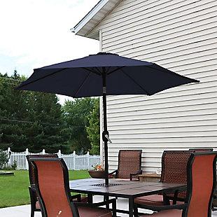 Sunnydaze 7.5' Outdoor Aluminum Patio Umbrella, , rollover