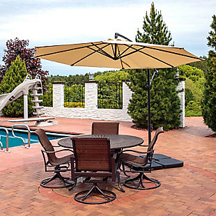 Sunnydaze 10' Outdoor Offset Patio Umbrella with Cantilever, , rollover