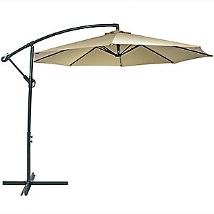 Sunnydaze 10' Outdoor Offset Patio Umbrella with Cantilever, , large