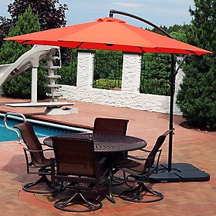 Sunnydaze Outdoor Offset Patio Umbrella and Cantilever w/ Cross Base, , rollover