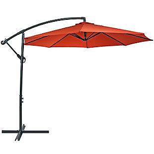 Sunnydaze Outdoor Offset Patio Umbrella and Cantilever w/ Cross Base, , large