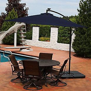 Sunnydaze 10' Outdoor Solar Offset Umbrella, , rollover