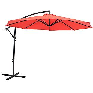 Sunnydaze 9' Outdoor Offset Patio Umbrella with Crank, , large