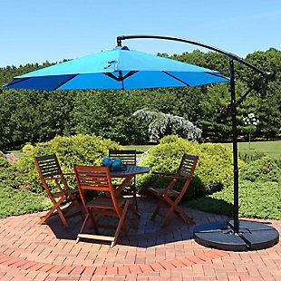Sunnydaze 9' Outdoor Offset Patio Umbrella with Crank, , rollover
