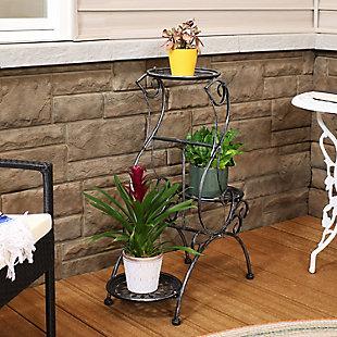 Sunnydaze Outdoor 3-Tier Victorian Plant Stand, , rollover