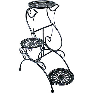 Sunnydaze Outdoor 3-Tier Victorian Plant Stand, , large