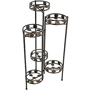 """Sunnydaze 45"""" Outdoor 6-Tier Folding Plant Stand, , large"""