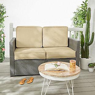 Mozaic Loveseat Cushion Set, Beige, rollover