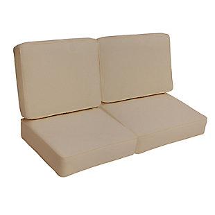Mozaic Loveseat Cushion Set, Beige, large