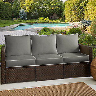 Mozaic Sofa Cushion Set, Gray, rollover