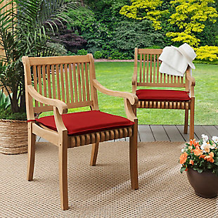 Mozaic Outdoor Chair Pads (Set of 2), Red, rollover