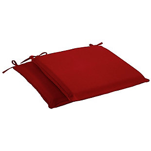 Mozaic Outdoor Chair Pads (Set of 2), Red, large