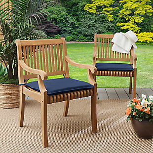 Mozaic Outdoor Chair Pads (Set of 2), Navy, rollover