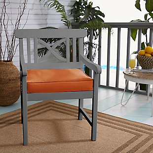 Mozaic Outdoor Cushion, Rust, rollover