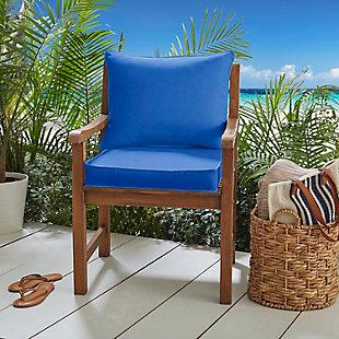 Mozaic Pillow and Cushion Chair Set, Blue, rollover