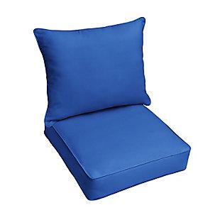 Mozaic Pillow and Cushion Chair Set, Blue, large