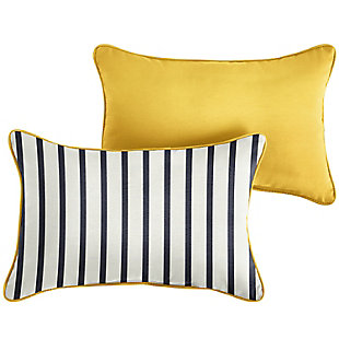 Mozaic Outdoor Pillows (Set of 2), Ivory Stripe, large