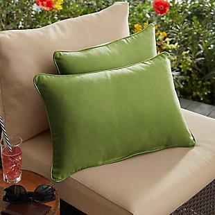 Mozaic Outdoor Pillows (Set of 2), Green, rollover