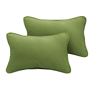 Mozaic Outdoor Pillows (Set of 2), Green, large
