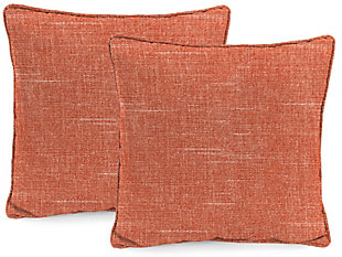 """Jordan Manufacturing Outdoor 24"""" Accessory Throw Pillows (Set of 2), Tory Sunset, rollover"""
