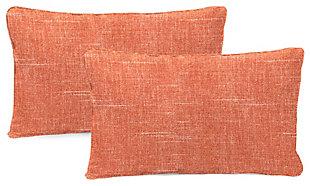 """Jordan Manufacturing Outdoor 20""""x13"""" Lumbar Accessory Throw Pillows (Set of 2), Tory Sunset, large"""