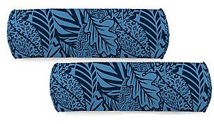"""Jordan Manufacturing Outdoor 20""""x7"""" Lumbar Accessory Throw Pillow (Set of 2), Maven Capri, large"""