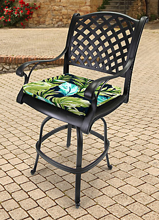 """Jordan Manufacturing Outdoor 19""""x18"""" French Edge Seat Cushions, , rollover"""