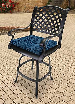 "Jordan Manufacturing Outdoor 19""x18"" French Edge Seat Cushions, Maven Capri, rollover"