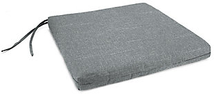 """Jordan Manufacturing Outdoor 21""""x19"""" French Edge Seat Cushions, Tory Graphite, large"""