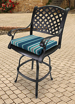 """Jordan Manufacturing Outdoor 21""""x19"""" French Edge Seat Cushions, , rollover"""