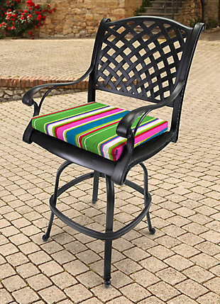 """Jordan Manufacturing Outdoor 23.5""""x19"""" French Edge Seat Cushions, , rollover"""