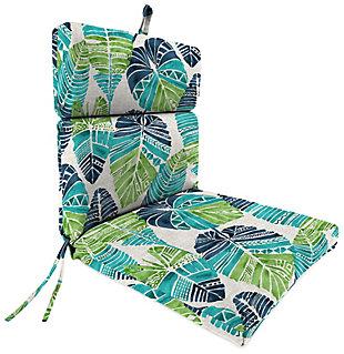 Jordan Manufacturing Outdoor French Edge Dining Chair Cushion, Hixon Caribe, large