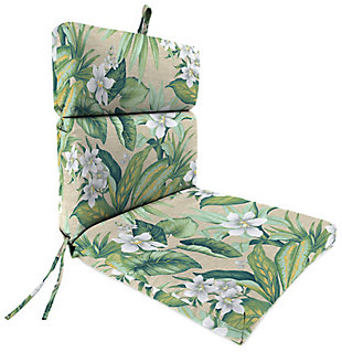 Jordan Manufacturing Outdoor French Edge Dining Chair Cushion, , large