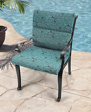 Jordan Manufacturing Outdoor French Edge Dining Chair Cushion, , rollover
