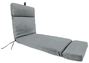 Jordan Manufacturing Outdoor French Edge Chaise Lounge Cushion, Tory Graphite, large