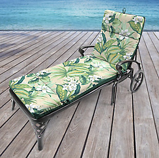 Jordan Manufacturing Outdoor French Edge Chaise Lounge Cushion, , rollover