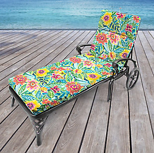 Jordan Manufacturing Outdoor French Edge Chaise Lounge Cushion, Pensacola, rollover
