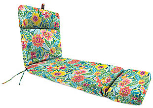 Jordan Manufacturing Outdoor French Edge Chaise Lounge Cushion, Pensacola, large