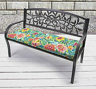 """Jordan Manufacturing Outdoor 48"""" Bench Cushion, Pensacola, rollover"""