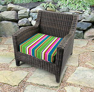 Jordan Manufacturing Outdoor Boxed Edge Deep Seat Cushion, , rollover